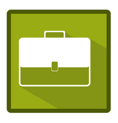 Emblem bag case icon vector