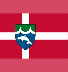 Flag of middelfart in southern denmark region vector