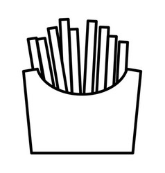 french fries line icon vector image
