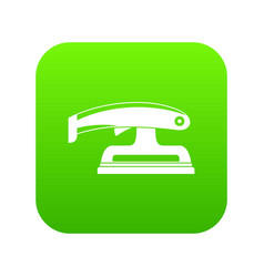 Fret saw icon digital green vector