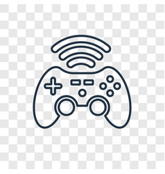 Gameplay concept linear icon isolated on vector