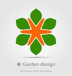 Garden design business icon vector image