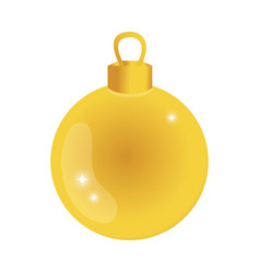 Gold circle ball decoration to christmas design vector