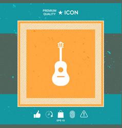 guitar symbol icon vector image