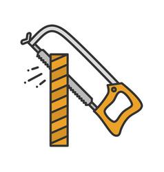 Hacksaw color icon vector