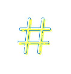 hashtag icon social network internet app vector image