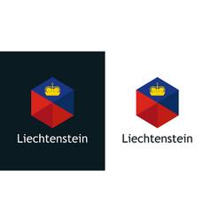 icon liechtenstein flag on black and white vector image