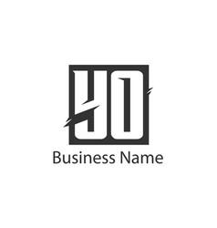 initial letter yo logo template design vector image
