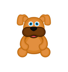isolated cute dog icon vector image