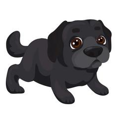 Labrador puppy icon cartoon style vector
