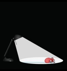 Lamp santa vector