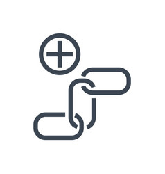 link building glyph icon vector image