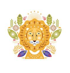 Lion head stylized vector