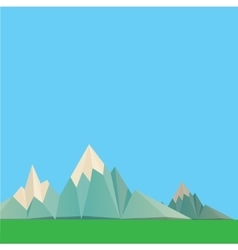 Low poly Mountains web banner vector