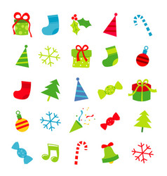 merry christmas gift decoration cartoon vector image