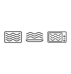 Microwave oven safe symbol container vector