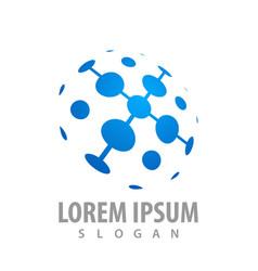 network molecule logo concept design symbol vector image