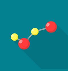 new molecule icon flat style vector image