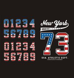 New york set number american vector