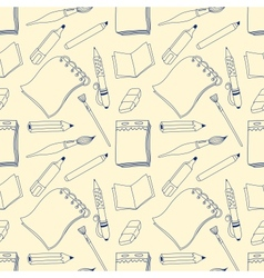 Notes seamless pattern vector image vector image