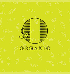 O organic logo leaves nature emblem vector
