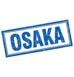 Osaka blue square grunge stamp on white vector