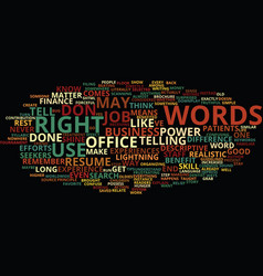 power words how right language can vector image