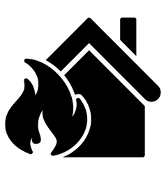 Realty Fire Disaster Flat Icon vector image