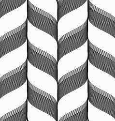 Ribbons in chevron pattern vector image