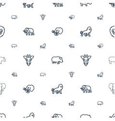 Safari icons pattern seamless white background vector