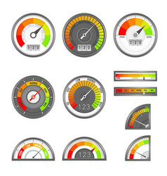 Score indicator speedometer indicators level vector