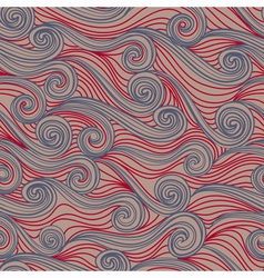 Seamless abstract pattern waves vector image