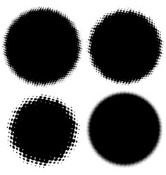 set of halftone abstract object eps 10 vector image