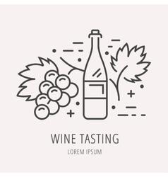 Simple Logo Template Wine vector image