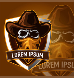 Skull cowboy sport logo vector