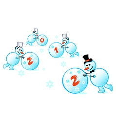 Snowmen 2012 vector