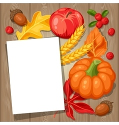 thanksgiving day greeting card background vector image