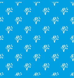 Three spiky palm trees pattern seamless blue vector