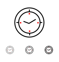 Time timer compass machine bold and thin black vector
