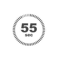 timer 55 sec icon simple design vector image