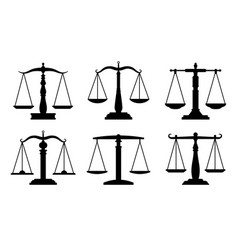 trading or law scales icons vector image