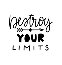 typography motivational poster vector image
