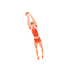 Volleyball player with ball male athlete vector