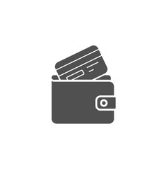 wallet with credit card simple icon cash money vector image