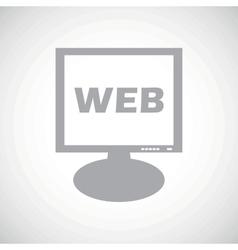 WEB grey monitor icon vector image