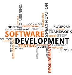Word cloud software development vector