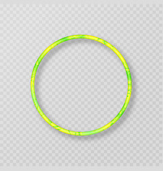 yellow-green frame with neon effect vector image