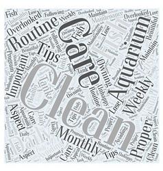 aquarium care Word Cloud Concept vector image vector image