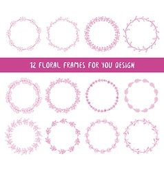Collection of floral frames vector image vector image