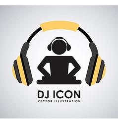 dj icon design vector image